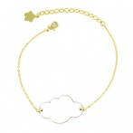 Bracelet Mini nuage blanc