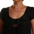 Nuage long necklace plum Over