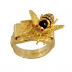 Bague La ruche et les abeilles