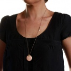 Boite long necklace light pink Over