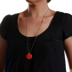 Boite long necklace coral Over