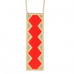Timi long necklace neon red