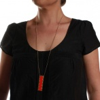 Timi long necklace neon red Over