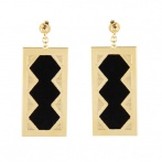 Angele earrings black