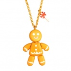 Contes articulés long necklace Gingerbread