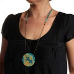 Terre de feu long necklace Over