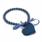 Bracelet Coeur bleu fonc&eacute;