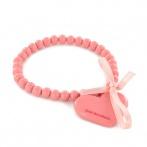Bracelet Coeur rose corail