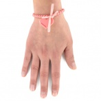 Bracelet Coeur rose corail Over
