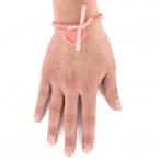 Coeur bracelet coral pink Over