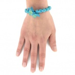 Bracelet Papillon bleu Over