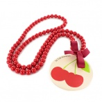 Cerises long necklace