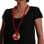 Cerises long necklace Over