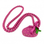 Fraise long necklace