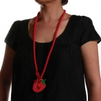 Fraise long necklace Over