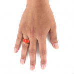 Bague Wonder Woman corail Over
