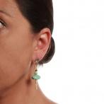 Boucles d'oreilles Pas de Deux bleu Over