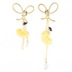 Boucles d'oreilles Pas de Deux jaune