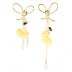 Pas de Deux earrings yellow