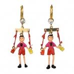Boucles d'oreilles Marionnette des bois