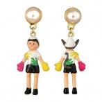 Marionnette des bois earrings