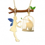 Marionnette des bois long necklace
