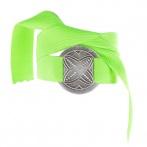 Bracelet Bonheur vert fluo