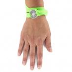 Bracelet Bonheur vert fluo Over
