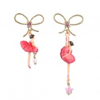 Pas de Deux earrings raspberry