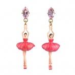 Pas de Deux earrings raspberry