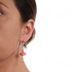 Boucles d'oreilles Pas de Deux framboise Over