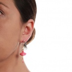 Pas de Deux earrings raspberry Over