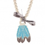Plumes long necklace cream