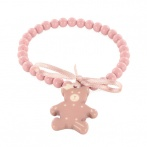 Royal Bear bracelet pink