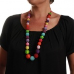 Cascade long necklace multi Over