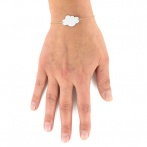 Bracelet Mini nuage blanc Over