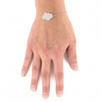 Mini nuage bracelet beige Over
