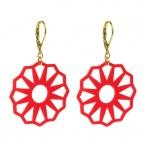Mandie earrings red