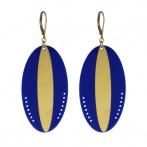Boucles d'oreilles Massaï bleu