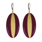 Boucles d'oreilles Massaï violet