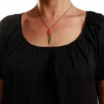 Collier Massaï rouge Over