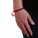 Bracelet Mini fuchsia pailleté Over