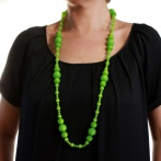 Coco long necklace green Over