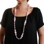 Coco long necklace light pink Over