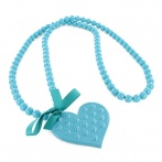 Coeur clous long necklace turquoise
