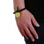 Bracelet Camélia jaune Over