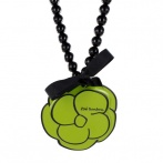 Camelia necklace green