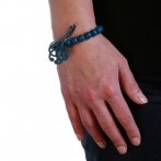 Arabesque bracelet blue Over