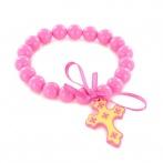Croix bracelet pink