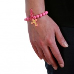 Bracelet Croix rose Over